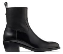 Jesse/f Vintage Stiefel aus schwarzem Kalbsleder