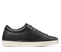 Cash Sneaker aus schwarzem Bisonleder mit Shearling