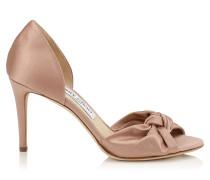 Kitty 85 Sandalen aus rosanem Satin