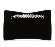 Venus Clutch aus schwarzem Samt mit Perlenband