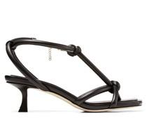 Fort 50 Sandaletten aus schwarzem Nappaleder