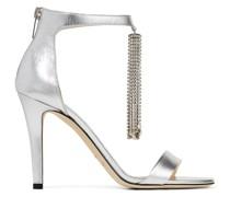 Viola 100 Sandaletten aus silbernem Nappaleder in Metallic-Optik