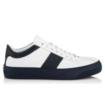 Portman Sneaker aus weißem und blauem Kalbsleder