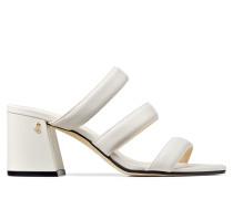Auna 65 Sandaletten aus Nappaleder in Latte mit Blockabsatz