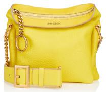 Mardy Mini Handtasche aus weichem gelbem genarbten Ziegenleder