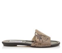 Nanda Sandalen aus mattem nudefarbenem Pythonleder