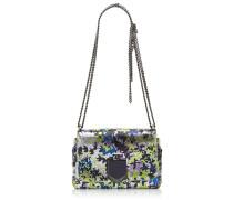 Lockett Petite Handtasche aus Leder in Metallic-Optik mit Print in Apfelgrün und Lila