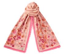 Lolah Schal aus Kaschmir und Modalgewebe in Flamingo und Calypso