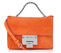 Rebel Soft Mini Kleine Umhängetasche aus orangenem Wildleder