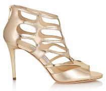 REN 85 Sandalen aus goldenem Glanzleder