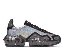 Diamond/f Low-Top-Sneakers aus mehrfarbigem, holografischem Leder