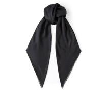 Amaya H6S074910 Schal aus schwarzer Seide und Jacquard-Gewebe