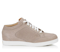 Miami Low-Top-Sneaker mit nudefarbenem Glitzerleder