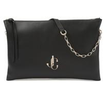Varenne Shoulder/s Handtasche aus schwarzem Kalbsleder mit JC Logo