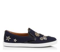 Demi Sneaker aus dunkelblauem Flanell