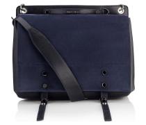 Rafe Messenger Tasche aus blauem Wildleder