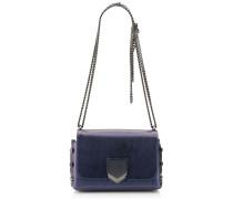 Lockett Petite Handtasche aus dunkelblauem Spazzolatoleder