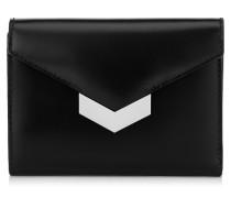 Leonie Portemonnaie aus schwarzem Spazzolato-Leder