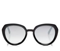 Mace Sonnenbrille aus schwarzem Acetat mit Glitzerdetails