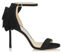 Kerry 100 Sandalen aus schwarzem Wildleder