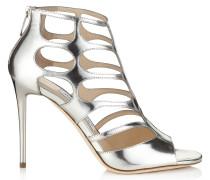 REN 100 Sandalen aus silbernem Glanzleder