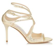 Ivette Sandalen aus schimmerndem champagnerfarbenem Leder