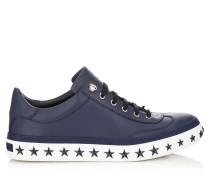 ACE Sneaker aus dunkelblauem Kalbsleder mit weißen Sternen
