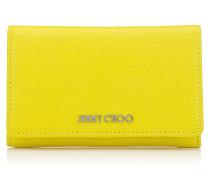 Marlie Brieftasche aus weichem genarbtem gelben Ziegenleder