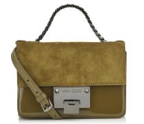 Rebel Soft Mini Tasche aus Wild-und Lackleder in Olive