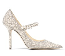 Baily 100 Spitze Pumps aus Wildleder in Ballettrosa mit Perlen und Kristall