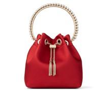 BON BON Handtasche aus Satin in königlichem Rot