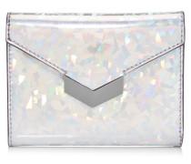 Leonie Portemonnaie aus silbernem holografischem Stoff