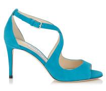 Emily 85 Sandalen aus blauem Wildleder