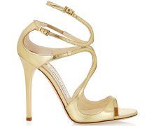 Lance Sandaletten aus goldfarbenem Metallic-Leder