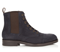 Jules Boots aus blauem Ciré-Wildleder