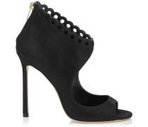 Blythe 110 Sandalen aus schwarzem Schimmerwildleder