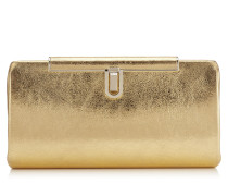 CAY Abend-Clutch aus goldenem Leder in Metallic-Optik