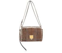 Lockett City Handtasche aus glänzendem ballettrosanem Pythonleder