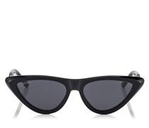 Sparks Sonnenbrille mit schwarzem Gestell und grauen Gläsern