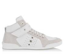 Lewis Sneaker aus weißem Kalbs-und Wildleder