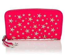 Filipa Brieftasche aus pinkem Leder mit Sternen