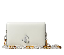 Varenne Clutch Clutch aus Textur-Lackleder in Latte