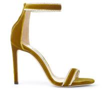 Dochas 100 Sandaletten aus zitronenfarbenem Samt mit Schmucksteinverzierung