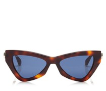 Donna Cat-Eye Sonnenbrille mit blauen Brillengläsern und Gestell in Havana