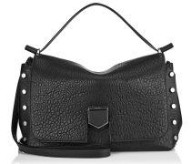 Lockett/m Handtasche schwarz genarbtem Leder und Nappaleder