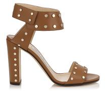 Veto 100 Sandalen aus glänzendem Leder in Canyon mit Nietendetails