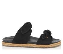 Nixon Flat Sandalen aus schwarzem Wildleder