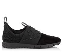 Oakland/m Sneaker aus schwarzem Wildleder und Netzgewebe mit matten Sternen aus Email