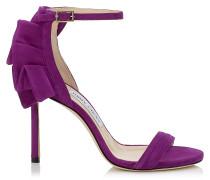 Kerry 100 Sandalen aus violettem Satin