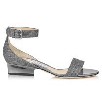 Edina 35 Sandalen aus anthrazitfarbenem Glitzer-Lamé